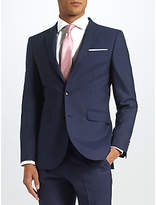 John Lewis Ermenegildo Zegna Super 160s Wool Pindot Half Canvas Tailored Suit Jacket, Navy