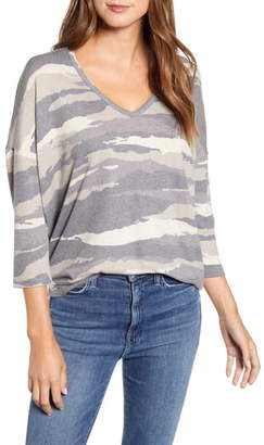 Wit & Wisdom Camo V-Neck Top