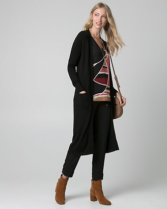 Le Château Viscose Blend Open-Front Duster Cardigan