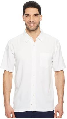 Quiksilver Waterman Clear Days 4 Short Sleeve Shirt (White) Men's T Shirt