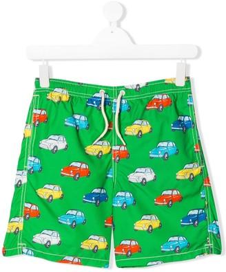 Mc2 Saint Barth Kids TEEN car-print swim shorts