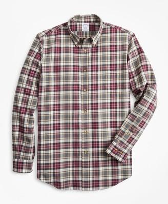 Brooks Brothers Regent Fit Multi-Plaid Brushed Flannel Sport Shirt