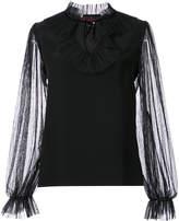 Nha Khanh ruffle trim blouse