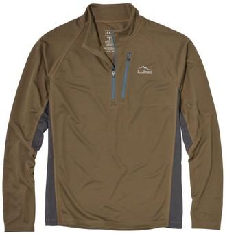 L.L. Bean Men's Ridge Runner Quarter-Zip, Long-Sleeve Colorblock