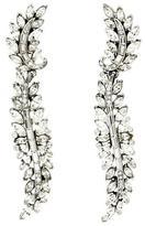 Ben-Amun Crystal Cluster Leaf Earrings