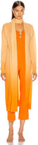 Jonathan Simkhai Ombre Cashmere Scarf Cardigan in Amber Ombre | FWRD