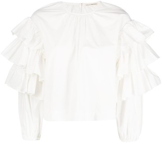 Ulla Johnson Tulia ruffle trim blouse