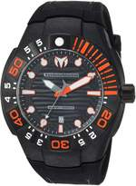 Technomarine Men's 'Reef' Quartz Stainless Steel and Silicone Casual Watch, Color: (Model: TM-515028)