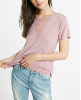 Express one eleven mesh deep v-neck tee