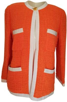 Chanel Orange Tweed Jackets
