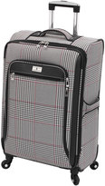 London Fog Andover Houndstooth 25-Inch Spinner Luggage