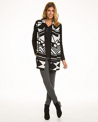 Le Château Aztec Print Wool Blend Sweater Coat