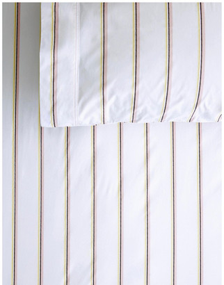 Sheridan Hardy Stripe Fitted Sheet Set in Multi White Super