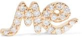 Alison Lou Me 14-karat Gold Diamond Earring - one size