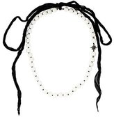 Mizuki Coral & Diamond Star Bead Strand Necklace