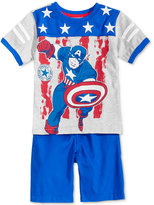 Nannette 2-Pc. Captain American-Print T-Shirt & Shorts Set, Toddler & Little Boys (4-7)