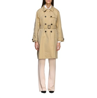 Max Mara The Cube Long Double-breasted Trench Coat With Belt
