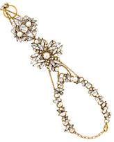 Erickson Beamon Crystal & Pearl Hand Chain