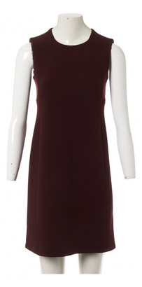 Prada Burgundy Wool Dresses