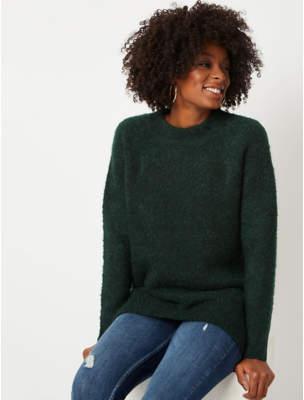 George Emerald Green Textured Longline Jumper
