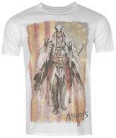 Character Mens Assasins Creed III Print T Shirt Crew Neck Tee Top Short Sleeve
