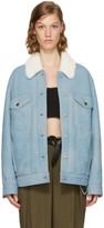 Alexander Wang Blue Oversized Shearling Jacket