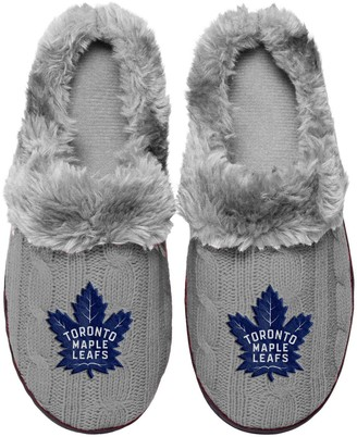Women's Toronto Maple Leafs Cable Knit Slide Slippers