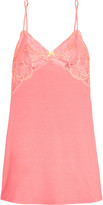 Heidi Klum Intimates Sabine lace-trimmed stretch-modal chemise