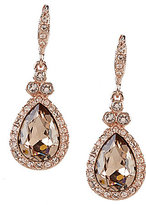 Givenchy Pave Pear Drop Earrings
