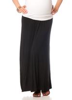 Motherhood Fold Over Belly Lightweight Maternity Skirt