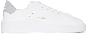 Golden Goose Pure Star glittered leather sneakers
