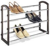 Whitmor 6579-1975 3 Tier Expandable Faux Leather Shoe Rack