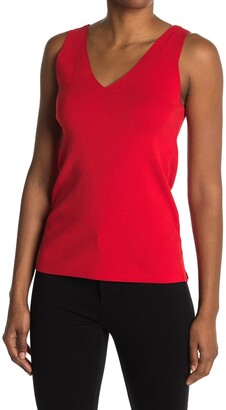 Anne Klein Double V-Neck Shell Sweater