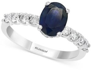 Effy Sapphire (1-3/8 ct. t.w.) & Diamond (3/8 ct. t.w.) in 14k White Gold