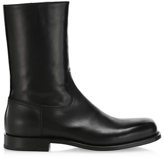 Dries Van Noten Square-Toe Leather Boots