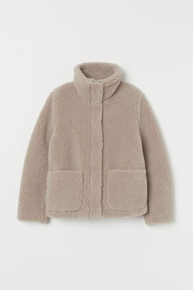H&M Pile jacket with a high collar