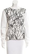 Sportmax Silk-Accented Printed Sweater
