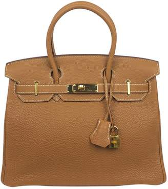 Hermes Birkin 30 Camel Leather Handbags