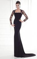 Tarik Ediz Lace Sleeved Gown 92543