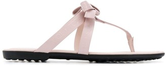 Tod's thong strap sandals