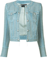 Balmain embellished cropped denim jacket - women - Cotton/Polyester/Viscose - 36