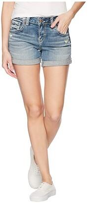 Silver Jeans Co. Boyfriend Mid-Rise Shorts L53608SJL268 (Indigo) Women's Shorts