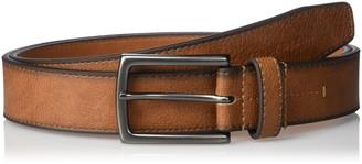Geoffrey Beene Men's Cut Edge Casual Belt with Gunmetal Buckle