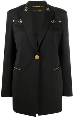 Versace Studded Slim Fit Blazer