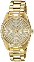 Kenneth Cole New York Women's KC4957 Classic Triple Yellow Bracelet Stone Dial Watch