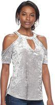 Juicy Couture Women's Velvet Cold-Shoulder Top
