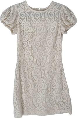 Badgley Mischka Ecru Lace Dress for Women