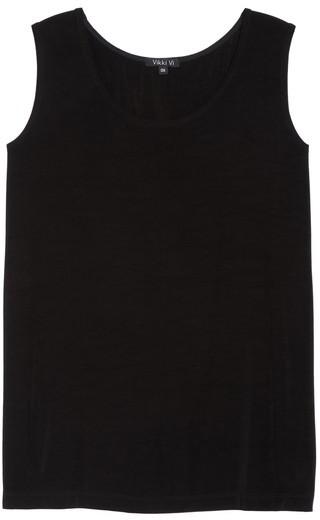 Vikki Vi Plus Size Women's Sleeveless Stretch Knit Tunic