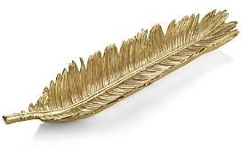 Michael Aram Sago Palm Gold Bread Plate