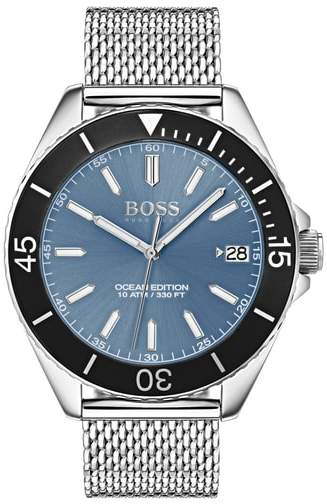 BOSS Ocean Mesh Strap Watch, 42mm
